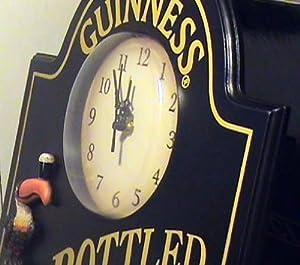 Guinness Extra Stout Irish Beer Bottle 3D Pub Bar Wall Clock
