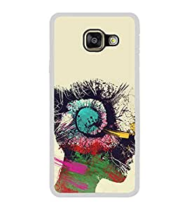 Girl with Head Phones 2D Hard Polycarbonate Designer Back Case Cover for Samsung Galaxy A3 (2016) :: Samsung Galaxy A3 2016 Duos :: Samsung Galaxy A3 2016 A310F A310M A310Y :: Samsung Galaxy A3 A310 2016 Edition