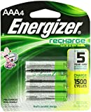 Energizer Universal NiMH AAA Rechargeable Batteries, 4-count (500 mAh, 1500 Cycles, Pre-Charged)