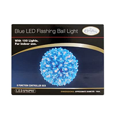 The Benross Christmas Workshop 100 LED Flashing Ball Light, Blue from Benross Group