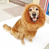 Bassion Large Pet Lion Wigs Mane Hair Scarf Party Fancy Dress Clothes Dog Costume