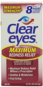 Clear Eyes Maximum Strength Redness Relief, .5 Fluid Ounce