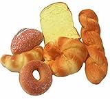 食品サンプル パン 模型 6個 セット インテリア ディスプレイ 店舗 装飾 リアル 販促 撮影 小道具 (6個セット)