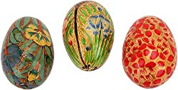 Imperial Collections Cardboard Easter Eggs (IC-73, 4.5 cm x 3 cm, Set of 3)