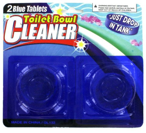 2 Pack Toilet Bowl Cleaner [24 Pieces] *** Product Description: Toilet Bowl Cleaning Tablets Are Easy To Use. To Activate, Just Drop In The Toilet Tank And You'Re Done! Package Comes With 2 Cleaning Tablets. Comes On A Blister Card With Hanging H *** front-584784