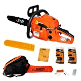 "Kiam Sherwood KM58-20 58cc Petrol Chainsaw 20"" Bar & 2 x Chains with FREE Carry Bag, Bar Cover & Tool Kit"