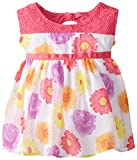 Youngland Baby Girls' Crochet and Floral Chiffon Sundress