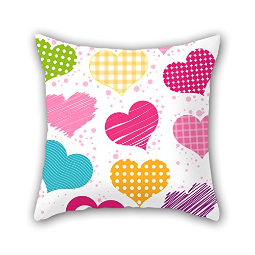 PILLO Throw Pillow Case Of Love 20 X 20 Inches / 50 By 50 Cm,best Fit For Coffee House,valentine,kitchen,gf,kids,family Both Sides (Fat Daddy Button compare prices)