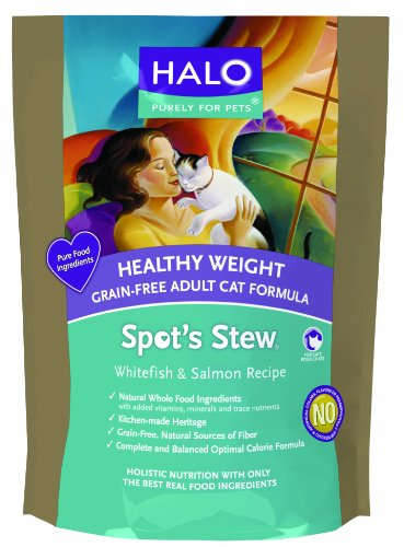 Halo Spot's Stew Cats Grain-Free Healthy Weight Whitefish & Salmon