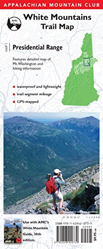 AMC Map: Presidential Range: White Mountains Trail Map (Adventure Series)