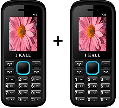 I Kall K55 set of 2 Dual Sim Mobiles (Blue & Blue)