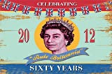 Art Maxi Poster featuring A Celebratory Image of Queen Elizabeth II by Martin Wiscombe 91.5x61cm