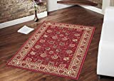 """Ottohome Collection Persian Style Rug Oriental Rugs Red Area Rug (8'2""""X9'10"""") 8-feet 2-Inch by 9-feet 10-Inch With Non-Skid (Non-Slip) Rubber Backing"""