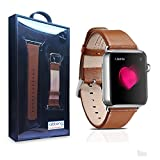 Apple Watch Band,Abtong TM Genuine Leather Strap Wrist Band Replacement Strap With Metal Adapter/Clasps For Apple... - B012D7C2GM
