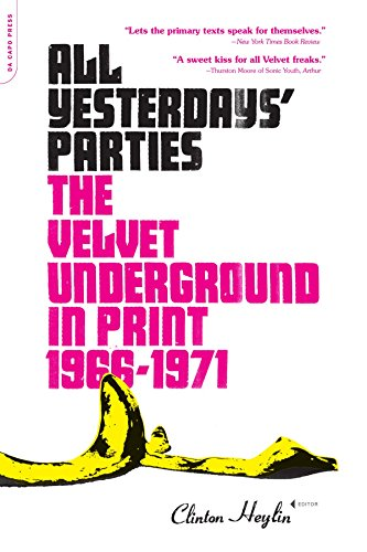 all yesterdays parties the velvet underground in print