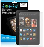"Ionic Amazon Fire HD 7"" and HD 7"" Kids Edition 2014 Screen Protector Film Matte (Anti-Glare) (3-pack)[Lifetime Replacement Warranty]"