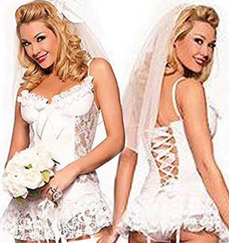 LOLA white dress sexy lingerie sexy underwear sets women's sexy bridal wear Lingerie