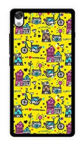"""Humor Gang My World Doodle Printed Designer Mobile Back Cover For """"OnePlus X"""" (2D, Glossy, Premium Quality Snap On Case)"""