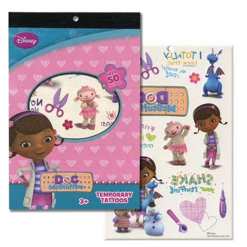 WeGlow International Doc McStuffins 4 Sheet Tattoo Book (Set of 3)