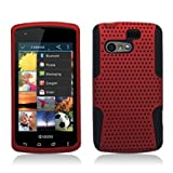 AI [Bastex] for Kyocera Rise C5155 (Sprint/ Virgin Mobile) Perforated Hybrid 2 in 1, Black+red