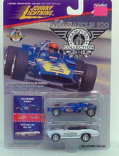 Johnny Lightning Indianapolis Champions Collection 2 Pack - 1970 Winner Al Unser & 1970 Pace Car Olds 442