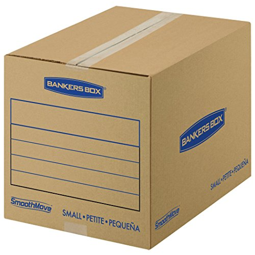 Bankers Box SmoothMove Basic Moving Boxes, Small, 16 x 12 x 12 Inches, 15 Pack (7713802) (Moving Boxes For Books compare prices)