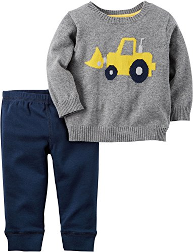 Carter's Baby Boys 2 Pc Sets, Heather, 18 Months