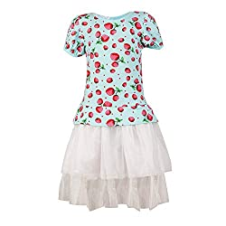 Pikaboo My Blue Strawberry Garden Dress