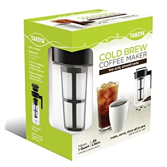 Takeya Cold Brew Coffee Maker 1 Quart - less acid, smooth taste