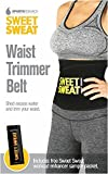Sweet Sweat Premium Waist Trimmer, 1-size-fits-all. Includes (for a limited time only) Free Book Stepping into the Body of your Dreams by Dr. Gregory Ellis and Free Sample of Sweet Sweat Workout Enhancer!