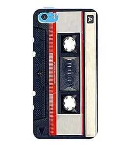 ColourCraft Retro Audio Cassette Design Back Case Cover for APPLE IPHONE 5C