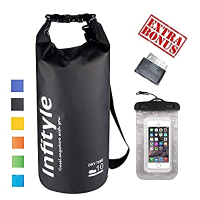 Waterproof Dry Bags - Floating Compression Stuff Sacks Gear Backpacks for Camping Hiking Fishing Boating Kayaking Canoeing Rafting Snowboarding - Free Universal Water Proof Phone Case and Pocket Tool