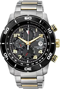 Citizen #CA0469-59E Men's Eco Drive Primo Stainless Steel Chronograph Watch