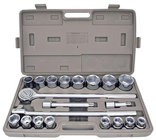 socket-wrenches-21pc-sae-3-4-drive-socket-set-w-storage-case-jumbo-ratchet-wrench-extension-new