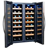 32 Bottle Dual Zone Quiet NewAir AW-321ED Thermoelectric Wine Cooler