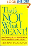 That's Not What I Meant: How Conversa...