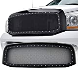 E-Autogrilles 06-08 Dodge Ram 1500 / 06-09 Dodge Ram 2500 / 06-09 Dodge Ram 3500 Evolution All Black Stainless Steel Wire Mesh Packaged Grille (46-0212)
