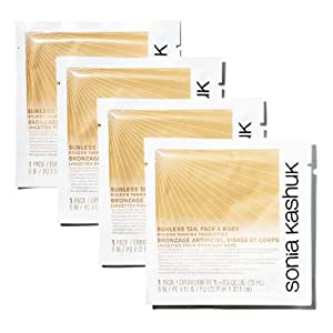 Sonia Kashuk Sunless Tan, Face & Body Golden Tanning Towelettes