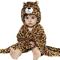 BRANDONN premium Hooded tiger printed Blanket cum Wrapper for Babies (tiger)