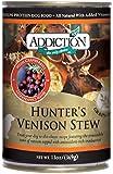 Addiction Hunter's Venison Stew Canned Dog Food, 13oz(pack of 24)