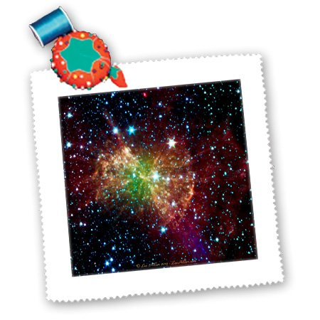 qs_61548_2 Lee Hiller Designs Space - In the Cosmos - Dumbbell Nebulapia - Quilt Squares - 6x6 inch quilt square