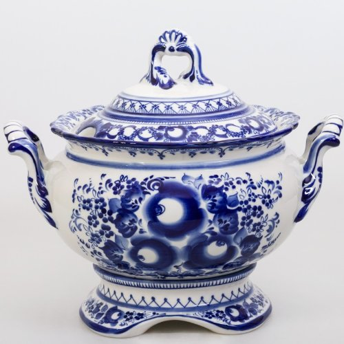 Gzhel Porcelain Tureen 'Royal' by