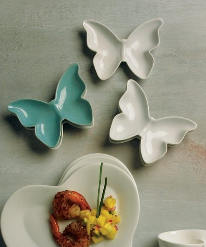 Ceramic-Butterfly-Dishes-Holders-Aqua-Blue-package-of-6