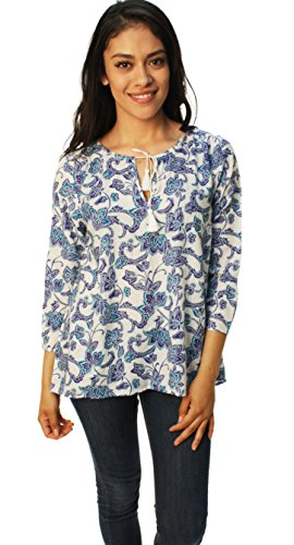 lucky-brand-womens-floral-high-blouse-small