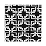 Outdoor Canvas Geometric Puzzle Tablecloth 58x90 Black and White
