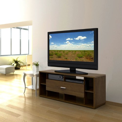 Cheap Cinnamon Cherry TV Stand with Flip Down Door (B003WH75QU)