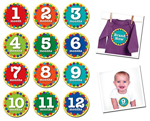 Sticky Bellies Baby Month Stickers - Nifty Neutral