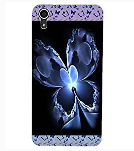 ColourCraft Beautiful Butterfly Design Back Case Cover for HTC DESIRE 626