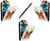 Case cover for Samsung Galaxy S3 mini i8190 Book / flip / wallet / PU leather / design / stripe / premium / stand (multi butterfly/S 3 MINI i8190)