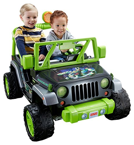Fisher-Price Power Wheels Teenage Mutant Ninja Turtle Jeep Wrangler Ride-On